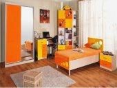 Комплект для детской Феникс - Стелаж 80 желтый глянец/оранжевый глянец
