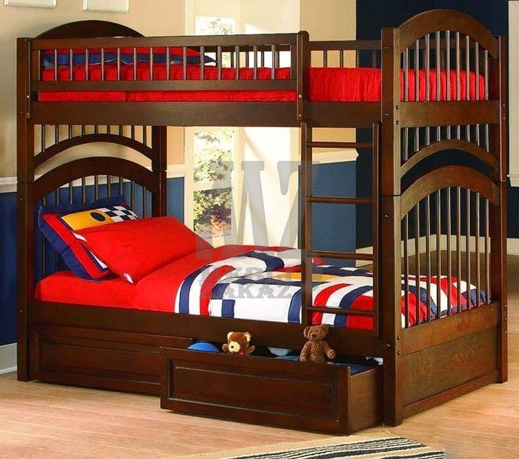 двухъярусные кровати из натурального дерева