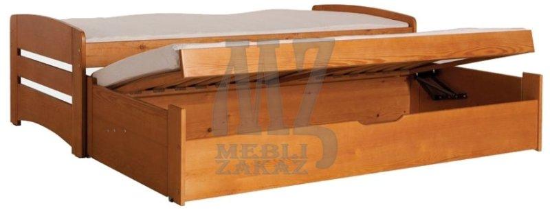 Кровать с выдвижным спальным местом Bartek (БАРТЕК) (Зацепа) - Кровати односпальные Магазин Mebli-Zakaz.UA