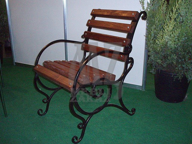 Стул садовый с подлокотниками (50 см.)