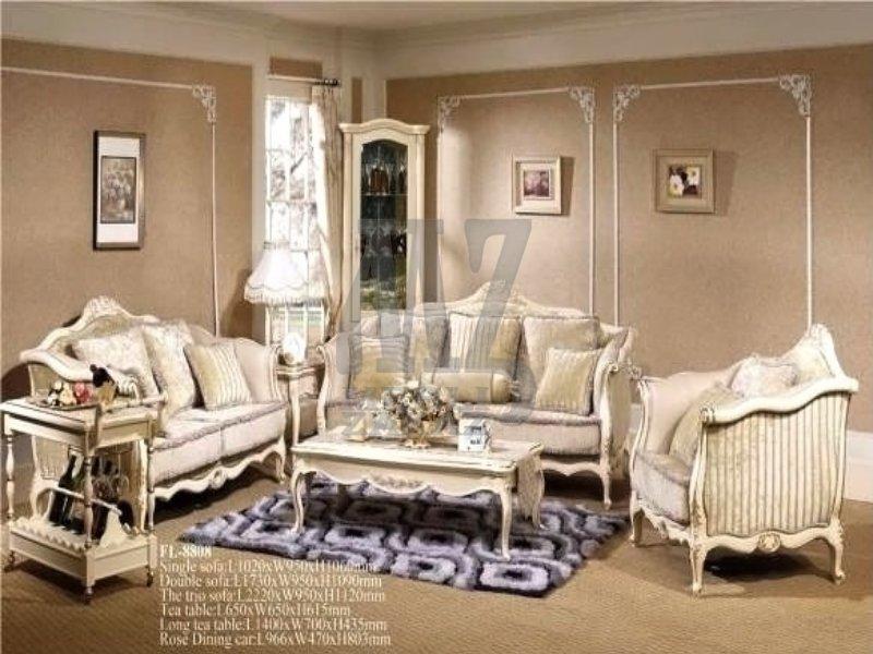 Комплект мягкой мебели FL-8808 (Nicolas) - Столы, Диван прямой, Кресла