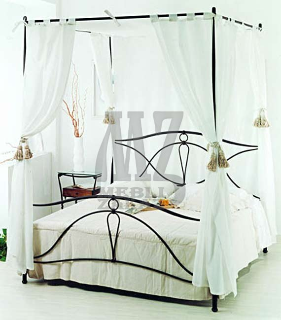 металлическая кровать с балдахином мико яценко бц кровати